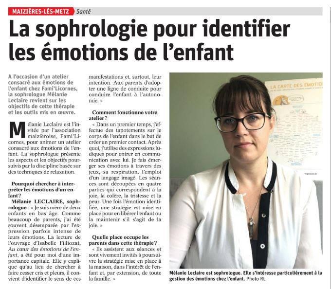 La sophrologie pour identifier les émotions de l'enfant